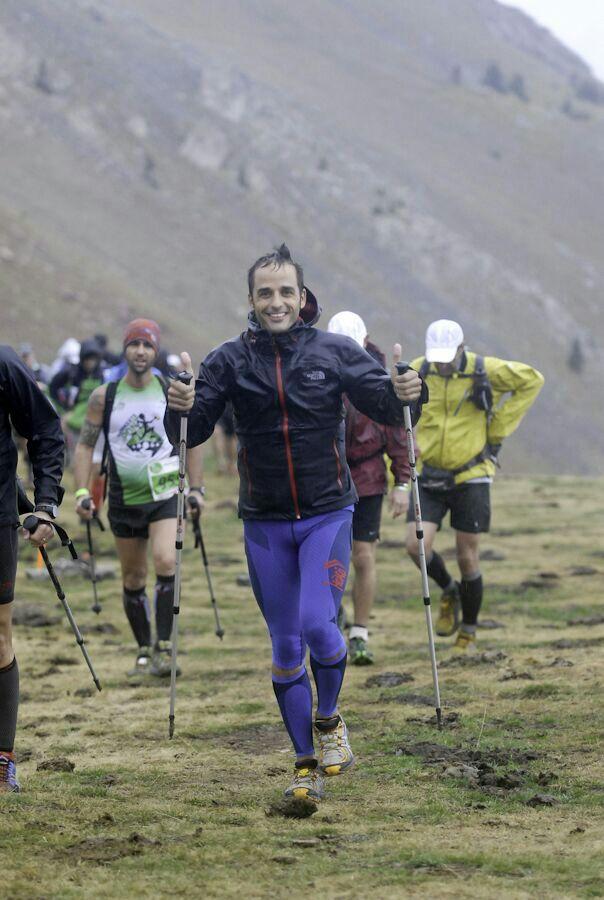 David Martín disfrutando de su deporte, las carreras ultra-trails.